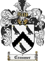 Croamer Family Crest / Coat of Arms JPG or PDF Image Download