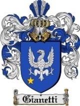 Gianetti Family Crest / Coat of Arms JPG or PDF Image Download - $6.99
