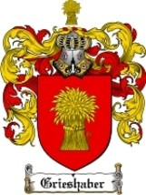 Grieshaber Family Crest / Coat of Arms JPG or PDF Image Download - $6.99