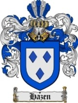 Hazen Family Crest / Coat of Arms JPG or PDF Image Download - $6.99