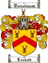 Lockett Family Crest / Coat of Arms JPG or PDF Image Download - $6.99