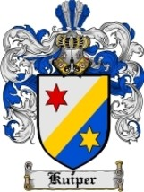 Kuiper Family Crest / Coat of Arms JPG or PDF Image Download - $6.99