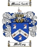 Mccoy Family Crest / Coat of Arms JPG or PDF Image Download - $6.99
