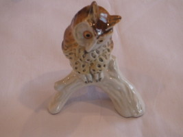 Vintage Goebel West Germany Brown spotted Owl on Branch - $19.99