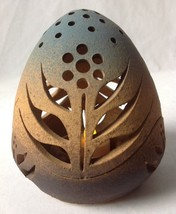 "Vintage Southwestern Pottery Egg Shaped Votive Handmade Signed 6"" - $34.59"