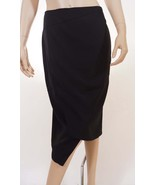 Cooper St Womens Black Lined Stretch Below Knee Length Wrap Pencil Skirt 6 - $39.99