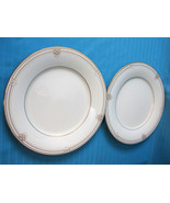 2 Noritake China Salad/Luncheon Plates Satin Gown #7730 Pattern Cream Go... - $23.91