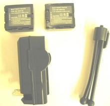 Batteries + Charger + Tripod For Panasonic Vwvbn130 Vwvbn130 Ppk Vwvbn130 Ek - $50.35