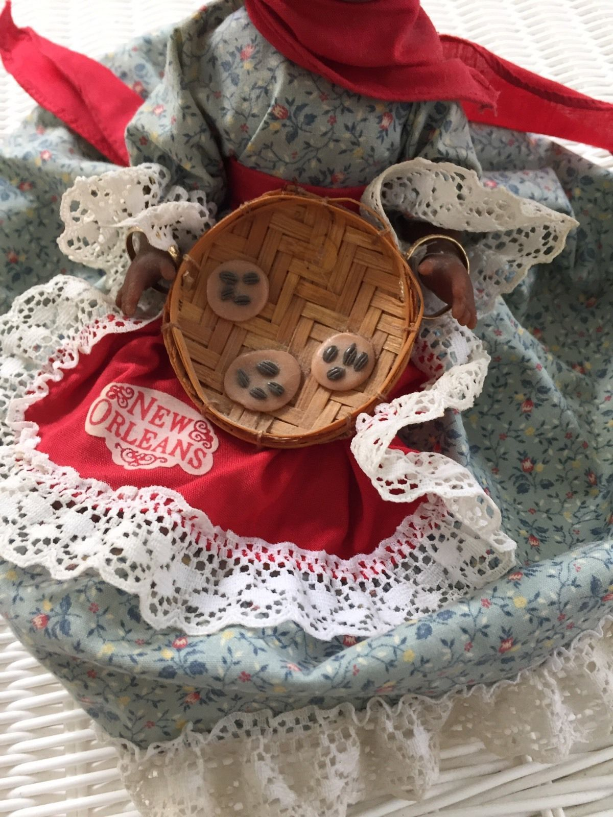 """Original Gambina Doll """"Cleo"""" Market Lady with tags attached! New Orleans Apron"""