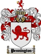Pennington Family Crest / Coat of Arms JPG or PDF Image Download - $6.99