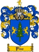 Pino Family Crest / Coat of Arms JPG or PDF Image Download - $6.99