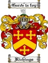 Richings Family Crest / Coat of Arms JPG or PDF Image Download - $6.99