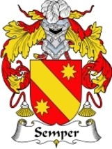 Semper Family Crest / Coat of Arms JPG or PDF Image Download - $6.99