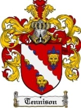 Tennison Family Crest / Coat of Arms JPG or PDF Image Download - $6.99
