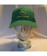 John Deere Green Baseball Hat Cap Snap Back White Yellow Brim MPC Produc... - $14.50