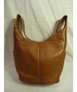 LaVive Fine Genuine Leather Hobo Style Handbag Made in Columbia - $30.99