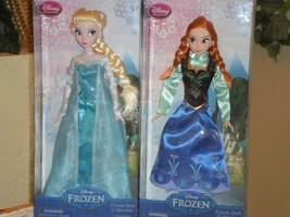 "New Disney Collection Princess Anna & Elsa 12"" Classic Doll Set - $39.59"