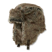 Dockers Trapper Winter Ear Flaps Hat Faux Fur Brown Aviator Bomber L/XL NEW - $13.32