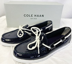 Cole Haan Women's Nantucket Camp NAVY Patent Leather Shoes SIZE 7 - $25.95
