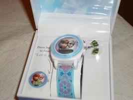 Disney Frozen Elsa Anna LCD Musical Watch - Blue - $564,76 MXN