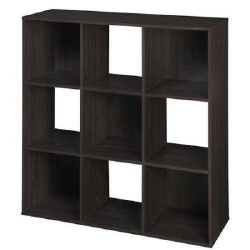 9 cube organizer bookcase storage tower shelves white kids or living espresso bookcases. Black Bedroom Furniture Sets. Home Design Ideas