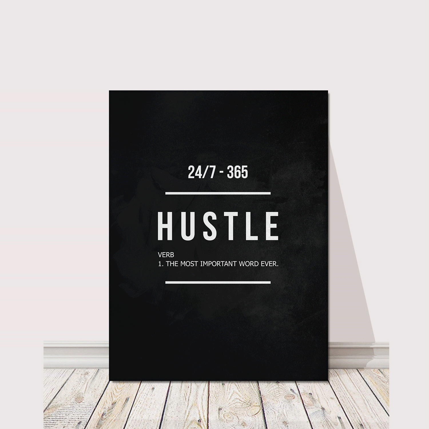 "Hustle Entrepreneur Canvas Print Office Wall Decor Modern Art 48"" x 36"" Inches image 2"