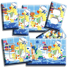 Toy Duckie Taking Bath Light Switch Wall Plate Outlet Kids Bathroom Duck Decor - $8.99+