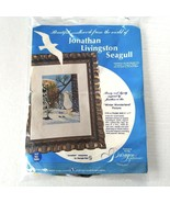 Jonathan Livingston Seagull Embroidery Kit Partially Completed Vintage 0889 - $11.87