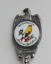 Collector Souvenir Spoon USA Washington American Goldfinch Repousse Bowl - $9.99