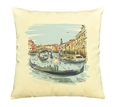 Vietsbay Venice - The Rialto Bridge Prints Pillows Cover Cushion Case VPLC - €12,24 EUR