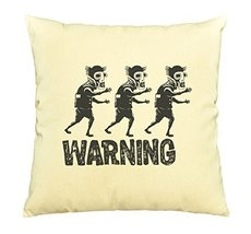 Vietsbay Zombie Warning Prints Decorative Pillows Cover Cushion Case VPLC - €12,24 EUR
