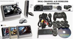 "Gray 9"" HD Digital LCD Screen Car Headrest Monitor Mount DVD Player Head... - $149.00"