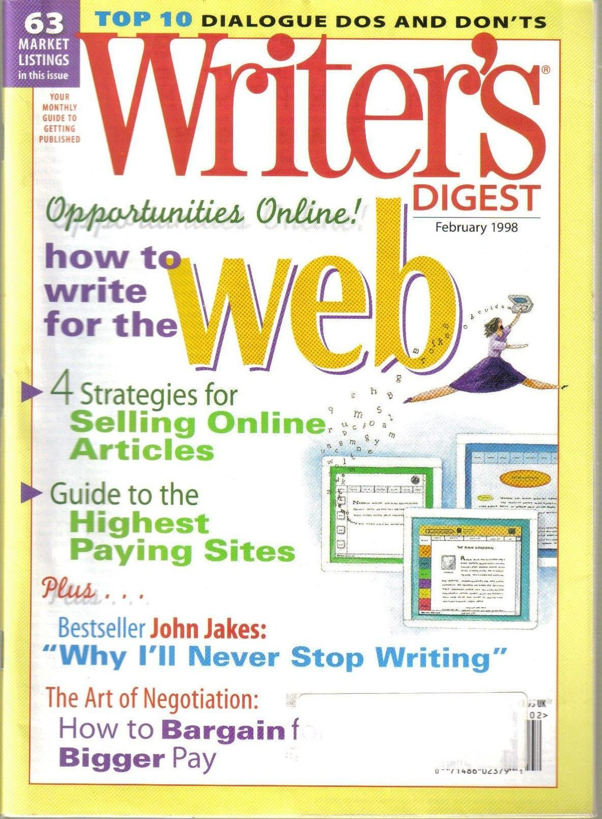 11 WRITER'S DIGEST MAGAZINES+THE WRITER'S HANDBOOK,2002
