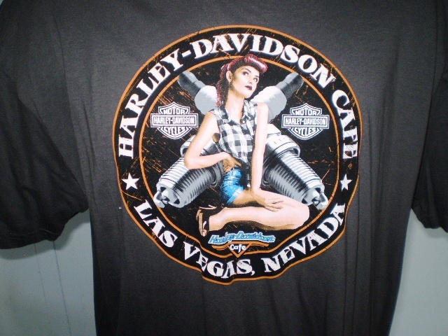 Harley davidson cafe dark gray xxl t shirt las vegas  nevada nwt 2
