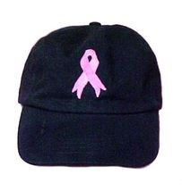 Pink Ribbon Baseball Hat Breast Cancer Awareness Black Embroidered Low C... - ₹1,158.45 INR