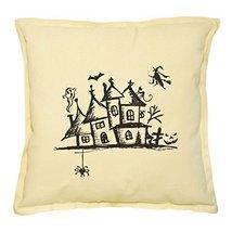 Vietsbay's Mystery House, Halloween Night Prints Khaki Decorative Pillow... - $15.99