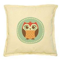 Vietsbay's Caroon Owls and Flowers 1 Prints Khaki Decorative Pillows Cov... - €13,99 EUR