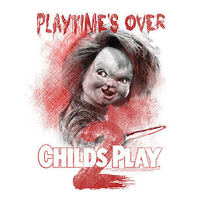 CHILD'S PLAY 2 T shirt Chucky 90's horror movie 100% cotton graphic tee  UNI400