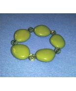 Olive Green Jumbo Beaded Stretch Bracelet - $9.99