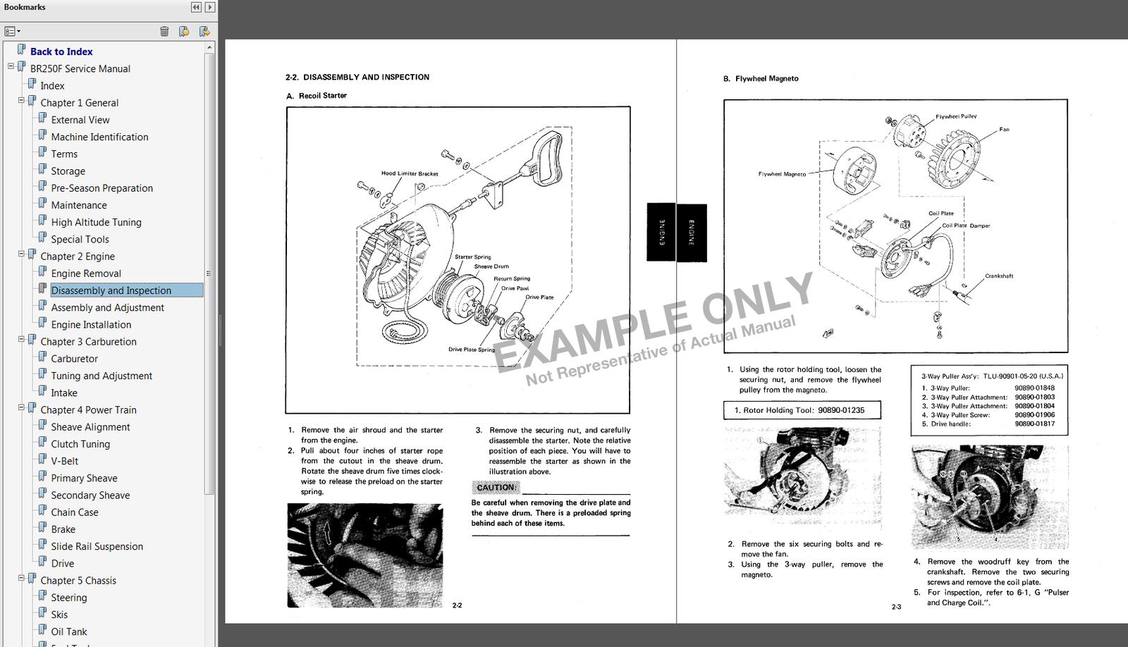 Samplewm. Samplewm. 1992-1999 Yamaha Ovation LE Snowmobile Service Manual  ...