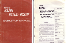 1975 Mazda Rotary Pickup Factory Workshop Manual 1010410 - $15.00