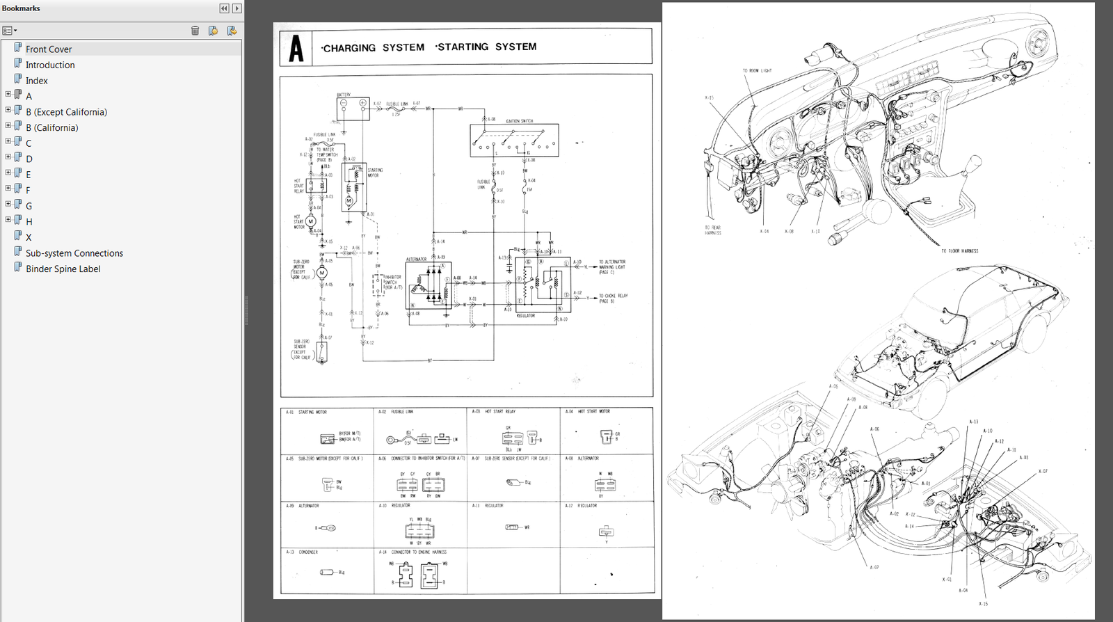 1982 Mazda RX-7 Factory Wiring Diagram Manual 5001-10-81E