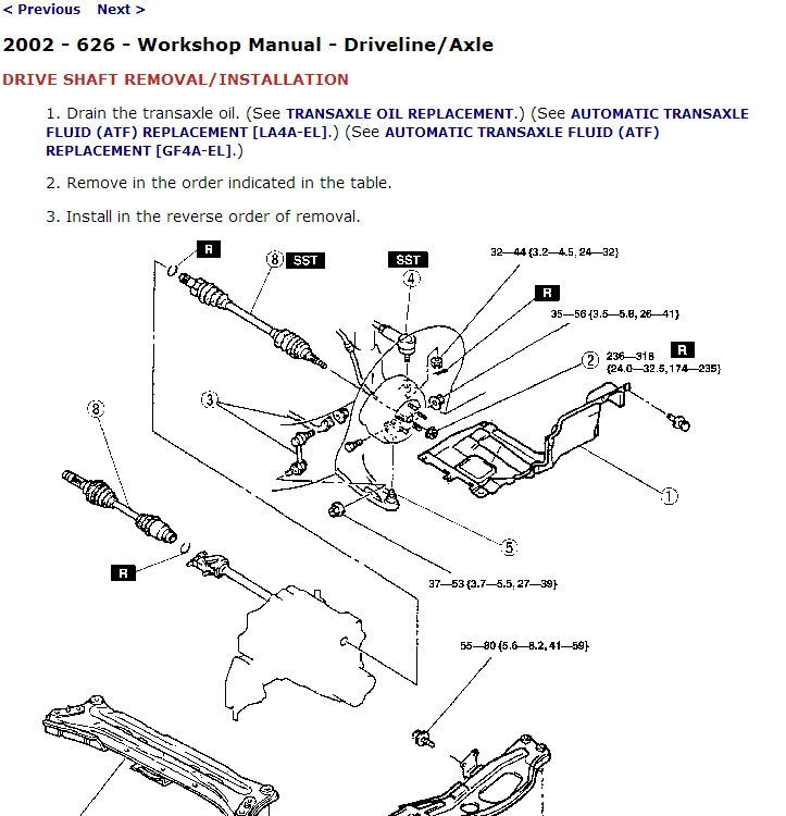 2000 Mazda 626 Factory Repair Service Manual