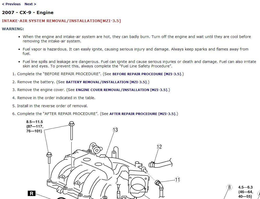 2007 Mazda CX-9 Factory Repair Service Manual