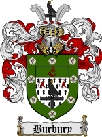 Primary image for Burbury Family Crest / Coat of Arms JPG or PDF Image Download