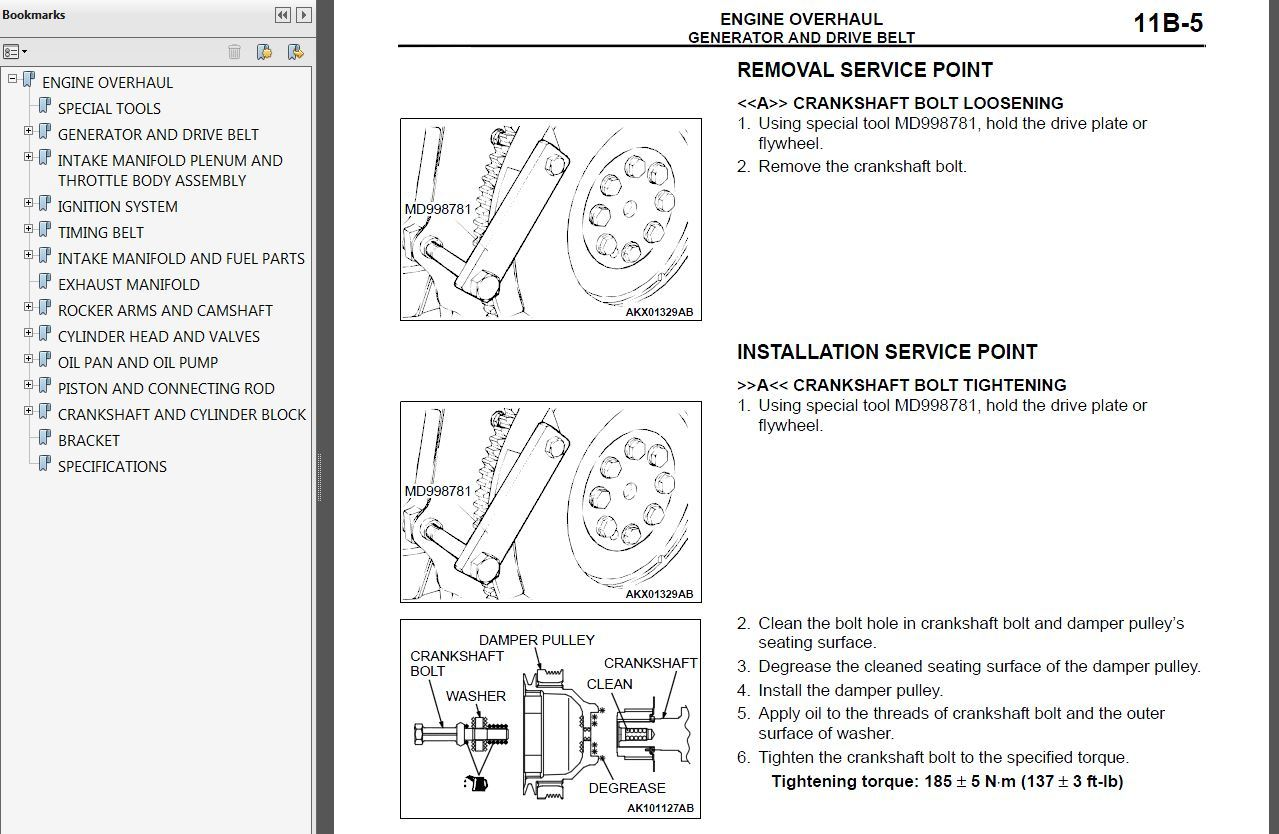 2006 Mitsubishi Montero Factory Repair Service Manual MSSP-004B-2006