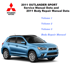2011-2012 Mitsubishi Outlander Sport RVR Factory Repair Service Manual - $15.00
