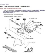 2002 Mazda 626 Factory Repair Service Manual - $15.00