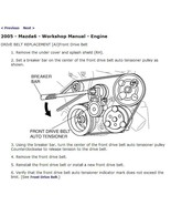 2005 Mazda6 Factory Repair Service Manual - $15.00