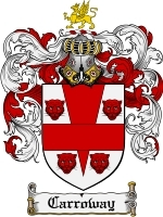 Primary image for Carroway Family Crest / Coat of Arms JPG or PDF Image Download